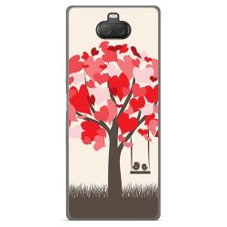 Funda Gel Tpu para Sony Xperia 10 Plus diseño Pajaritos Dibujos