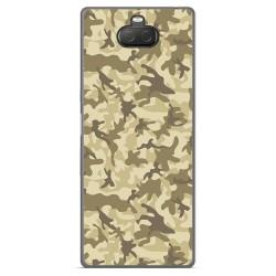 Funda Gel Tpu para Sony Xperia 10 Plus diseño Sand Camuflaje Dibujos
