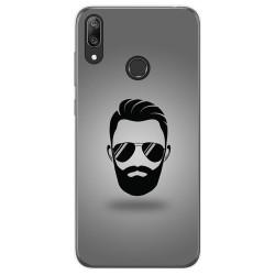 Funda Gel Tpu para Huawei Y7 2019 diseño Barba Dibujos