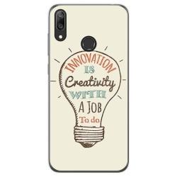 Funda Gel Tpu para Huawei Y7 2019 diseño Creativity Dibujos