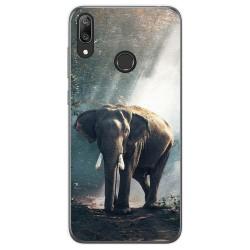 Funda Gel Tpu para Huawei Y7 2019 diseño Elefante Dibujos