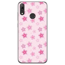 Funda Gel Tpu para Huawei Y7 2019 diseño Flores Dibujos