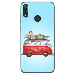 Funda Gel Tpu para Huawei Y7 2019 diseño Furgoneta Dibujos