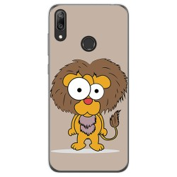 Funda Gel Tpu para Huawei Y7 2019 diseño Leon Dibujos