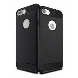 Funda Gel Tpu Tipo Carbon Negra para Iphone 7 / 8