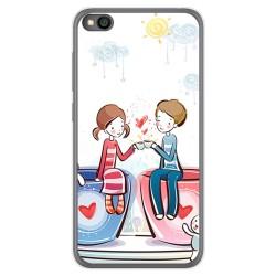 Funda Gel Tpu para Xiaomi Redmi Go diseño Café Dibujos