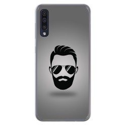 Funda Gel Tpu para Samsung Galaxy A50 diseño Barba Dibujos