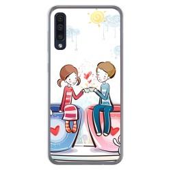 Funda Gel Tpu para Samsung Galaxy A50 diseño Café Dibujos