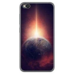 Funda Gel Tpu para Xiaomi Redmi Go diseño Tierra Dibujos