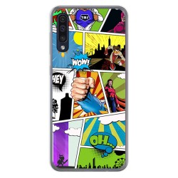 Funda Gel Tpu para Samsung Galaxy A50 diseño Comic Dibujos