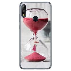 Funda Gel Tpu para Asus Zenfone Max (M2) diseño Reloj Dibujos