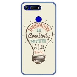 Funda Gel Tpu para Huawei Honor View 20 diseño Creativity Dibujos