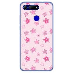 Funda Gel Tpu para Huawei Honor View 20 diseño Flores Dibujos