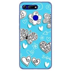 Funda Gel Tpu para Huawei Honor View 20 diseño Mariposas Dibujos