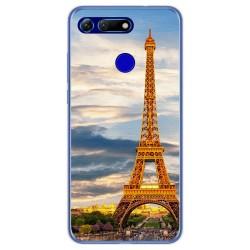 Funda Gel Tpu para Huawei Honor View 20 diseño Paris Dibujos
