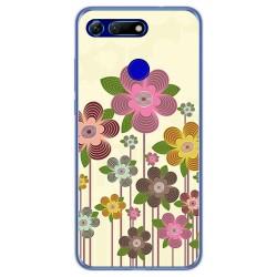 Funda Gel Tpu para Huawei Honor View 20 diseño Primavera En Flor Dibujos