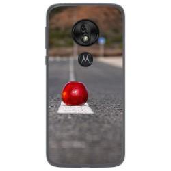 Funda Gel Tpu para Motorola Moto G7 Play diseño Apple Dibujos