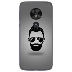 Funda Gel Tpu para Motorola Moto G7 Play diseño Barba Dibujos