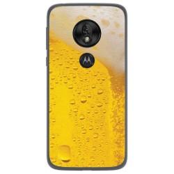 Funda Gel Tpu para Motorola Moto G7 Play diseño Cerveza Dibujos