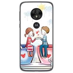 Funda Gel Tpu para Motorola Moto G7 Play diseño Café Dibujos