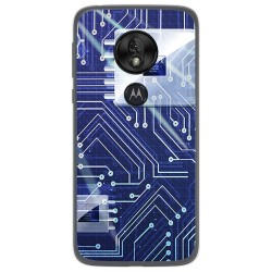 Funda Gel Tpu para Motorola Moto G7 Play diseño Circuito Dibujos