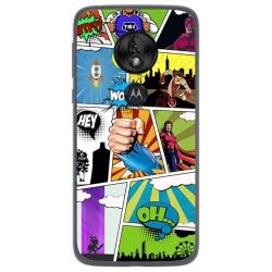 Funda Gel Tpu para Motorola Moto G7 Play diseño Comic Dibujos