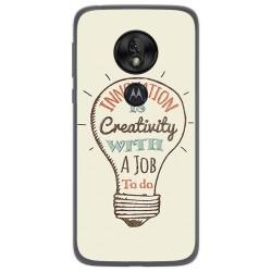 Funda Gel Tpu para Motorola Moto G7 Play diseño Creativity Dibujos