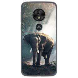 Funda Gel Tpu para Motorola Moto G7 Play diseño Elefante Dibujos