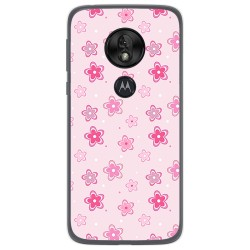 Funda Gel Tpu para Motorola Moto G7 Play diseño Flores Dibujos
