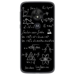 Funda Gel Tpu para Motorola Moto G7 Play diseño Formulas Dibujos