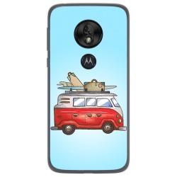 Funda Gel Tpu para Motorola Moto G7 Play diseño Furgoneta Dibujos