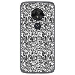 Funda Gel Tpu para Motorola Moto G7 Play diseño Letras Dibujos