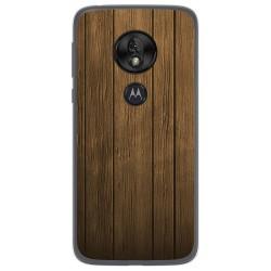 Funda Gel Tpu para Motorola Moto G7 Play diseño Madera Dibujos