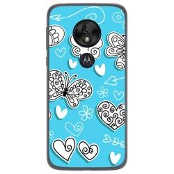 Funda Gel Tpu para Motorola Moto G7 Play diseño Mariposas Dibujos
