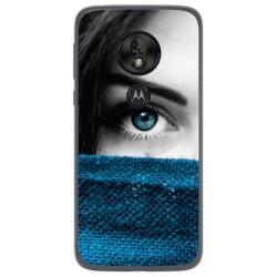 Funda Gel Tpu para Motorola Moto G7 Play diseño Ojo Dibujos
