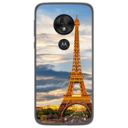 Funda Gel Tpu para Motorola Moto G7 Play diseño Paris Dibujos