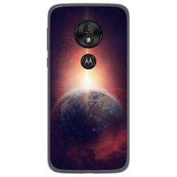 Funda Gel Tpu para Motorola Moto G7 Play diseño Tierra Dibujos