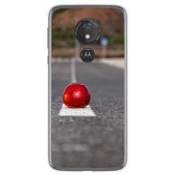Funda Gel Tpu para Motorola Moto G7 Power diseño Apple Dibujos