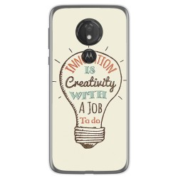 Funda Gel Tpu para Motorola Moto G7 Power diseño Creativity Dibujos