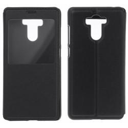 Funda Soporte Piel Negra Con Ventana para Xiaomi Redmi 4 / 4 Pro Flip Libro