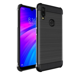 Funda Gel Tpu Anti-Shock Carbon Negra para Xiaomi Redmi 7