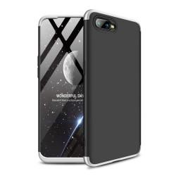 Funda Carcasa GKK 360 para Oppo RX17 Neo Color Negra / Plata