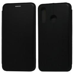 Funda Libro Soporte Magnética Elegance Negra para Huawei P30 Lite