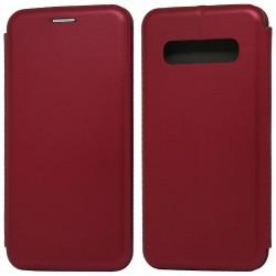 Funda Libro Soporte Magnética Elegance Roja para Samsung Galaxy S10