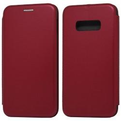 Funda Libro Soporte Magnética Elegance Roja para Samsung Galaxy S10e