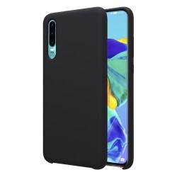 Funda Silicona Líquida Ultra Suave para Huawei P30 color Negra