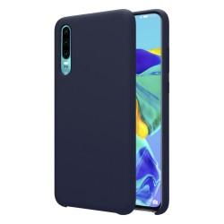 Funda Silicona Líquida Ultra Suave para Huawei P30 color Azul oscura