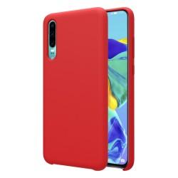Funda Silicona Líquida Ultra Suave para Huawei P30 color Roja