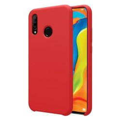 Funda Silicona Líquida Ultra Suave para Huawei P30 Lite color Roja