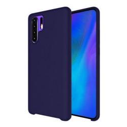 Funda Silicona Líquida Ultra Suave para Huawei P30 Pro color Azul oscura